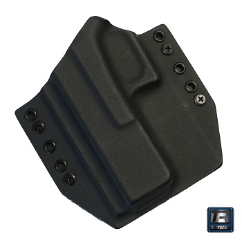 TR Holsters ® OWB Kydex Holster Glock 17 Gen. 5, links - Black
