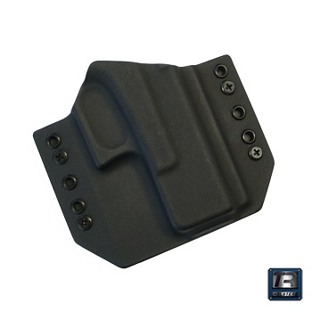 TR Holsters ® OWB Kydex Holster Glock 19 Gen. 5 / G19X, rechts - Black