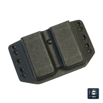 TR Holsters ® OWB Kydex Dual Magazine Carrier Glock 9/40 - Black