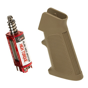 "Ares M4 High Torque Slim Motor & Grip ""A2"" Set - Desert"