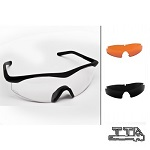 T.T.D. ® MilSpec N.F.T. No-Fog Brille Set - Clear/Smoke/Orange advent