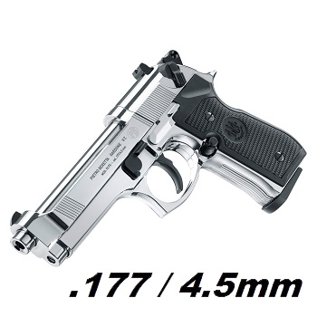 Beretta M92 FS Co² 4.5mm Diabolo - Polished Chrome