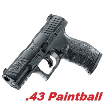 T4E Walther PPQ M2 Cal .43 Paintball Pistole - Black