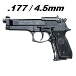 Beretta M92 FS Co² 4.5mm Diabolo - Black