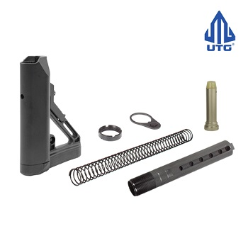 "Leapers ® UTG PRO AR-15 / M4 (MilSpec) 6 Position Stock Set ""S1"" - Black"