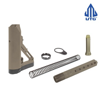 "Leapers ® UTG PRO AR-15 / M4 (MilSpec) 6 Position Stock Set ""S1"" - Flat Dark Earth"
