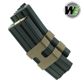 WE Magazin für M4 / M16 GBBR (Gas) Black - 80rnd