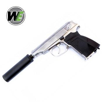 WE Makarov PM Pistol GBB Set - Stainless