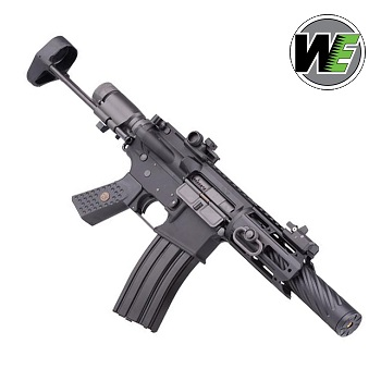 "WE M4 CQB-R ""Honey Badger"" GBBR - Black"