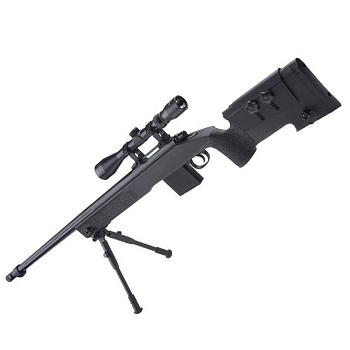 WELL M40A5 Sniper Rifle Set - Black