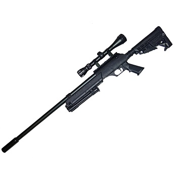 WELL MB13 SR2 Spring Sniper Rifle Set - Black