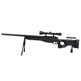 WELL MB08 AW338 Sniper Rifle Set - Black