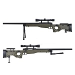 WELL MB08 AW338 Sniper Rifle Set - Olive