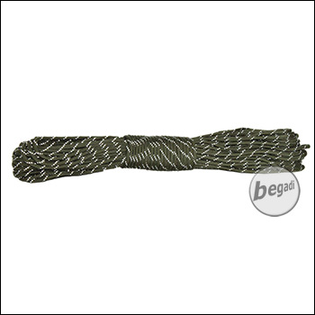 "BE-X Paracord ""reflective"" (550lbs), 30m - Olive"