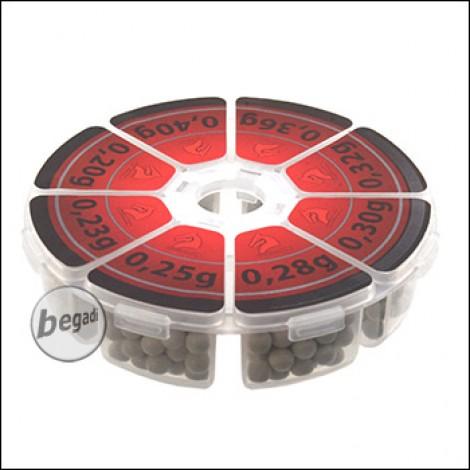 """LONEX Bio BBs """"VARIO Box"""" Muster Set (0.20g bis 0.40g) - 400rnd"""