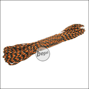 BE-X Paracord (550lbs), 30m - Black/Orange