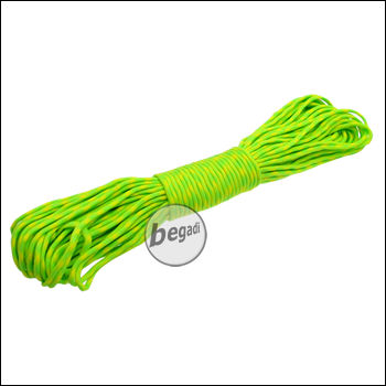 BE-X Paracord (550lbs), 30m - Green/Yellow