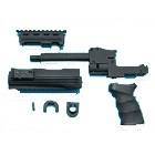 AK47 Tactical Front Set with Grip (Black)