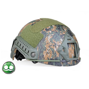 nHelmet FAST Helm Standard Type - Digital Woodland